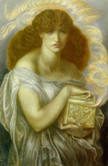 Pandora-1879 Dante Gabriel Rossetti [Public domain], via Wikimedia Commons